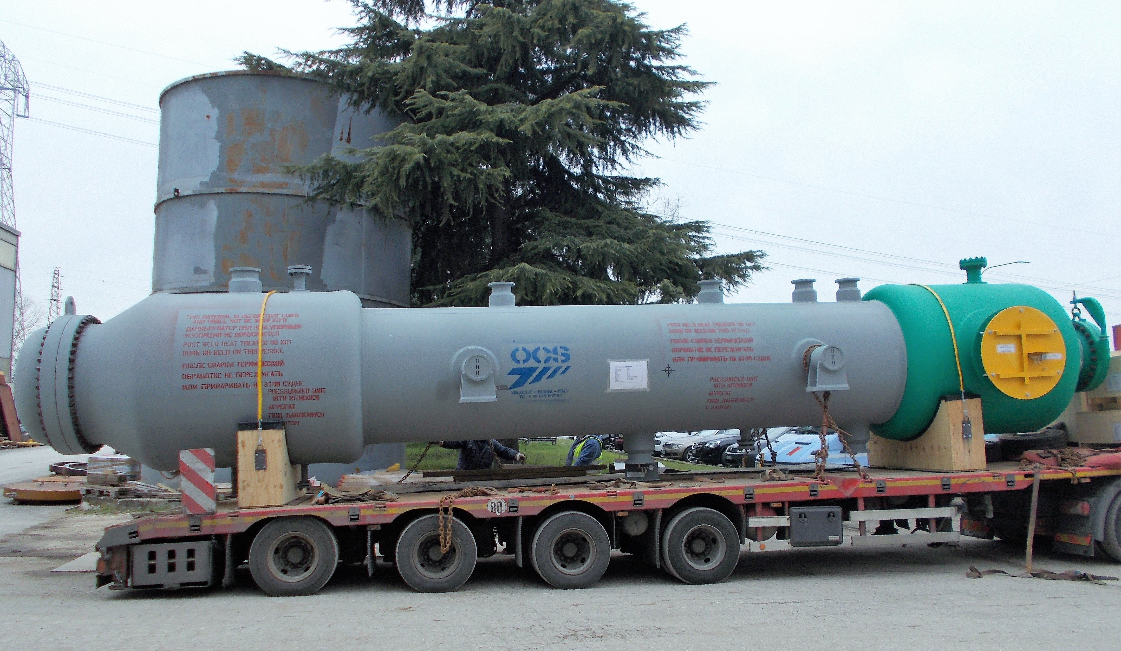 PROCESS GAS EXCHANGER IN SA 387 GR.11 CI.2 / SA 516 GR.70 / SA 213 T22 AT ATYRAU OIL REFINERY, KAZAKHSTAN