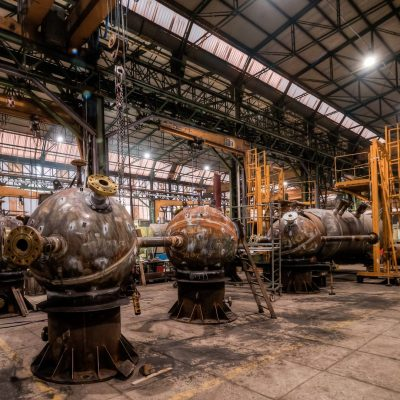 Suction Dampeners with external coils in SA 516 Gr. 70 at Jazan plant – Size: 2.835 x 1.505 mm; 3 t - 75 barg – Saudi Arabia