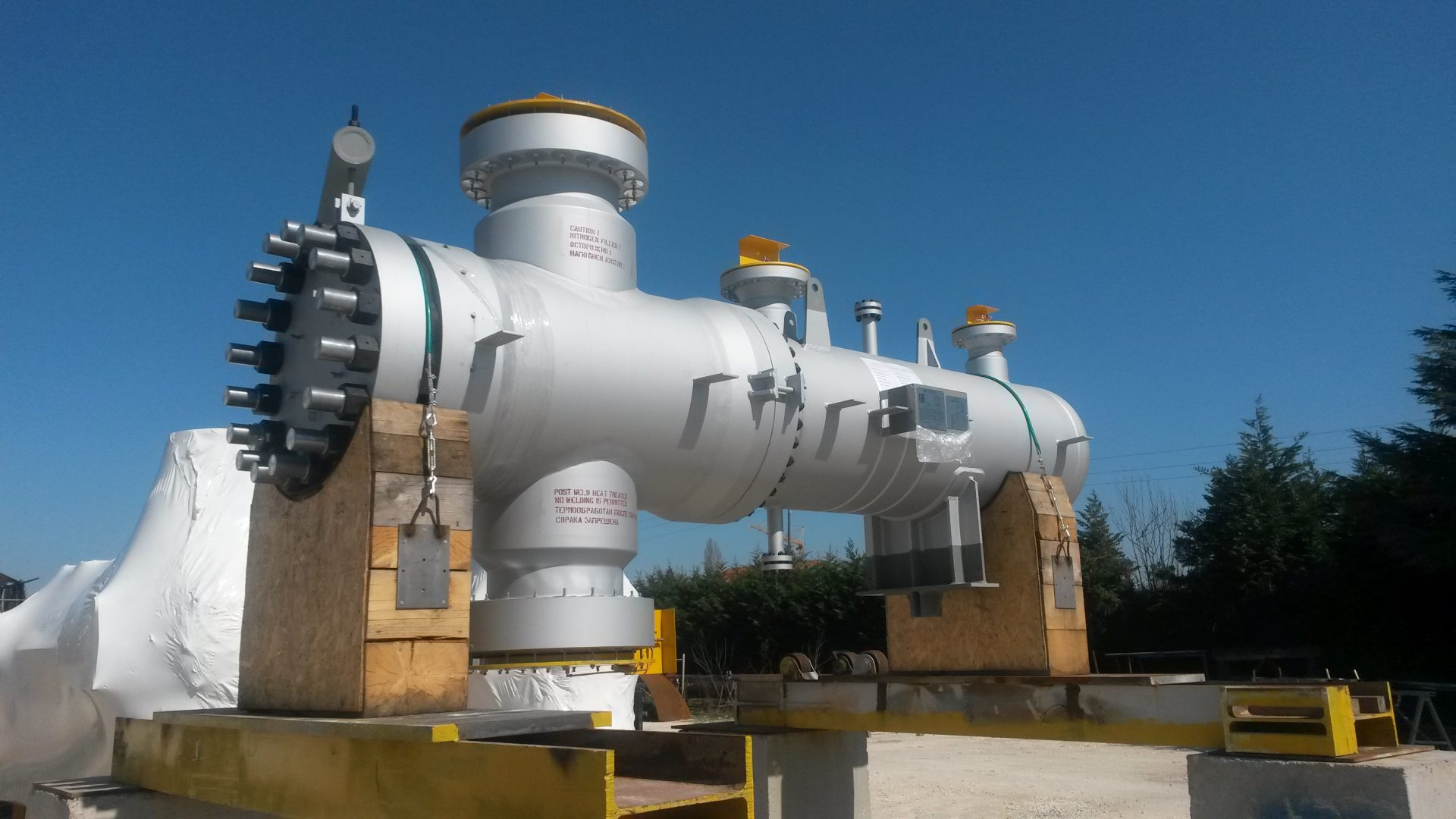 Steam Superheater in SA 387 Gr.11 Cl.2, SA 182 M Gr.11 Cl.2 at Gubakha plant – Size: 3.500 x 1.064 mm; 19 t; Perm, Russia