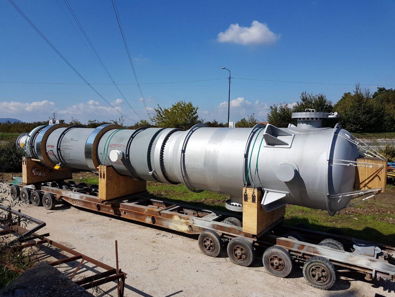 MP Decomposer Separator in SA 516 M Gr. 70 / SA 240 M Type 316 L / SA 213 M TP 310 MoLN (UNS S31050) at Togliatti Azot – Urea plant – Size: 16.857 mm x 2.100 mm; 62 t – Russia