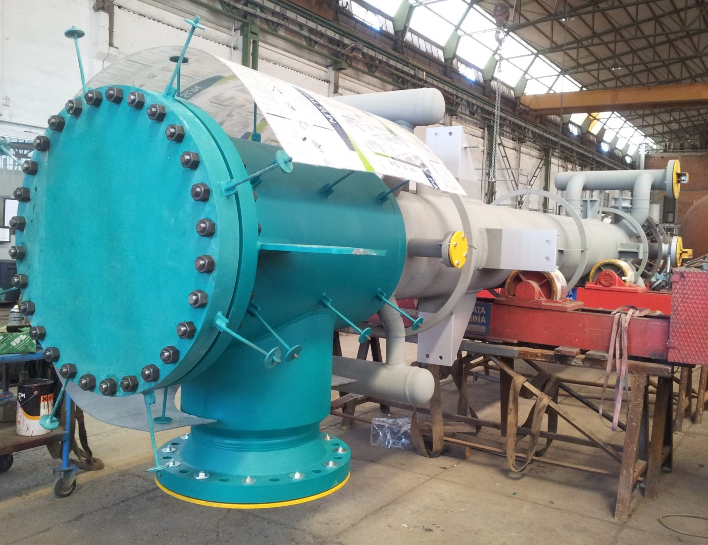 Vertical Process Gas Boiler in SA 516 Gr.70 / SA 387 Gr.11 Cl.2 at Daura Refinery – Size: 3.470 x 780 mm; 8 t – Bagdad, Iraq