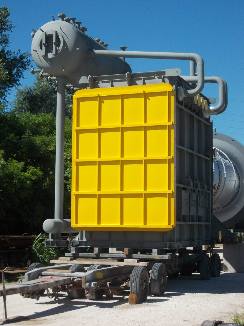 Water Tube Boiler with Steam Drum in SA 210M Gr. A1 / SA 355 P11 /SA 516M Gr.70 at Karbala plant – Size: 5.199 x 4.320 mm + 3.800 x 1.400 mm; 40 t – Iraq