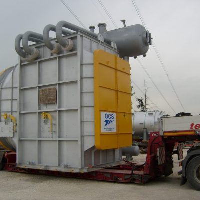 Water Tube Boiler in SA 106 Gr. B / SA 210 Gr. A1 / S.S. 304H at Veracruz plant - Size: 4.970 x 3.728 + 4.970 x 1.400 mm; 50 t – Mexico