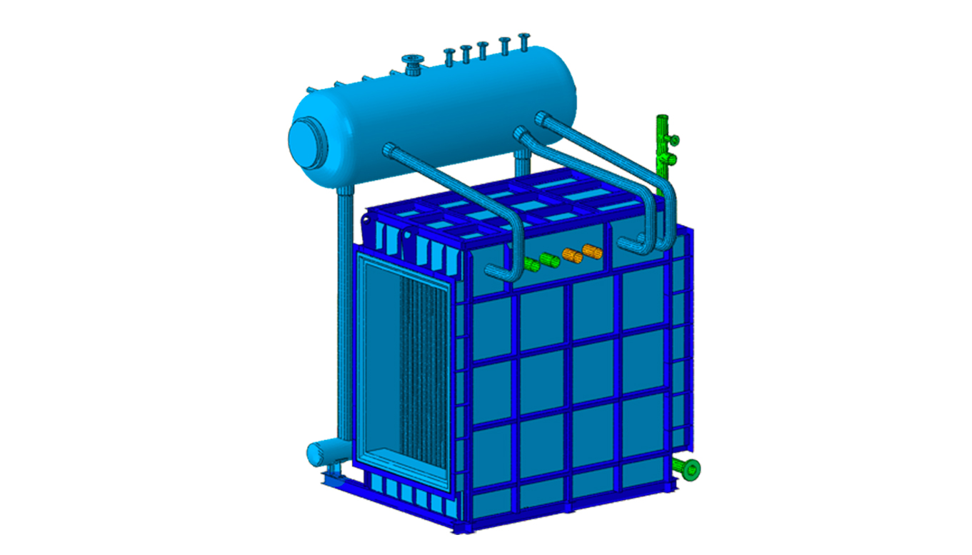 3D modeling for Finite Element Analysis on Water Tube Boiler