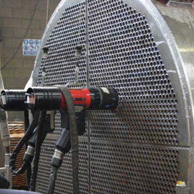 Horizontal tube to tubesheet weld by automatic orbital GTAW