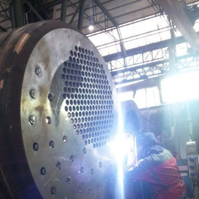 Welding of stay bolts of a kuttle boiler by GTAW