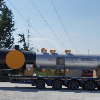 Process Gas Boiler in SA 516 Gr.70 / SA387 Gr.11 Cl.2 / SA 213 T11 at Tuapse Refinery - Size: 28.152 x 1.278 mm; 75 t - Russia