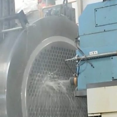 Drilling of tubesheet