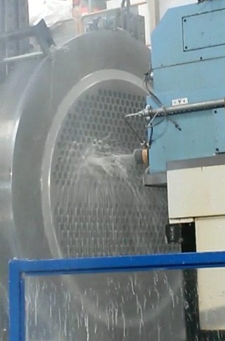 Drilling of tubesheet