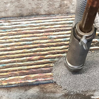 WELD OVERLAY ON TEST COUPON EXECUTED BY SAW